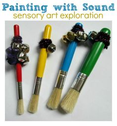 Great idea! Preschool painting project .