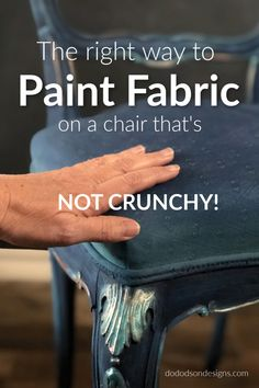 Painting Fabric on a Chair is Easier Than You Think! Painting Fabric on a Chair is Easier Than You Think! Skyler Ann bethanyannalys Craft projects Painting fabric is a game […] furniture fabric Chalk Paint Fabric, Painting Fabric Furniture, Paint Upholstery, Furniture Painting Techniques, Chalk Paint Furniture, Fabric Painting, Diy Painting, Best Fabric Paint, Chair Painting