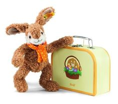 Steiff Jolly Dangling Rabbit in Suitcase * Check this awesome product by going to the link at the image.