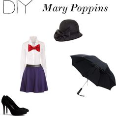 """DIY Mary Poppins Costume"" by emmabball on Polyvore"