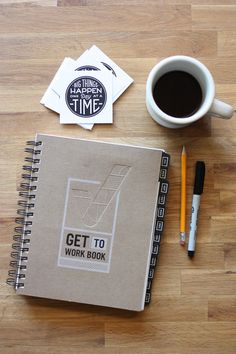 Get to work book daily planner + goal setter i love кофе и книги. Goals Planner, Life Planner, Filofax, College Graduation Gifts, Planning, Study Inspiration, Planner Organization, Page Layout, Getting Organized