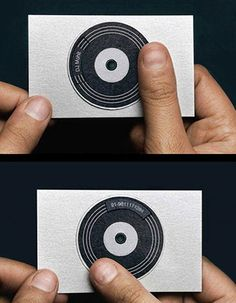 DJ Mohit's turntable business card via Business Card Design Ideas