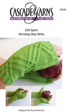 Winding Way Mitts in Cascade 220 Sport - DK245. Discover more Patterns by Cascade at LoveKnitting. We stock patterns, yarn, needles and books from all of your favorite brands.