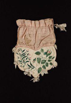 Drawstring bag | Museum of Fine Arts, Boston Painted silk drawstring bag.