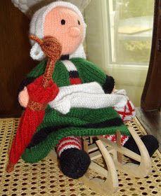 Bécassine modèle Anne-Marie Dentelle La poupée tricotée avec des aiguilles du 3 mesure environ 30 cm ...