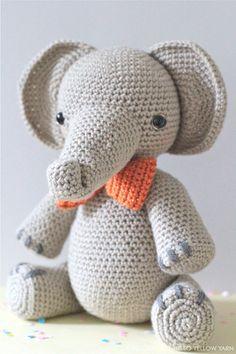 Elephant Amigurumi Pattern- Professor Elbert. https://www.etsy.com/au/listing/286821919/crochet-amigurumi-elephant-pattern?ref=featured_listings_row