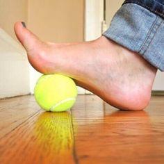 Tennispallo auttaa plantaarifaskiitin hoidossa — Askel Terveyteen