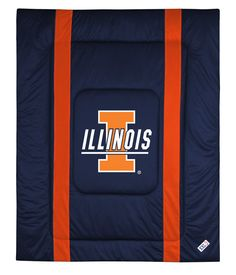 ATHLEZ - Illinois Fighting Illini Sidelines Comforter Full/Queen