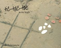 beach tic tac toe game + 10 fun activities for families to enjoy at the beach