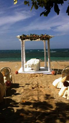 Lovely beach wedding set up in Puerto Plata, Dominican Republic