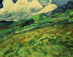 Landscape at Saint-Remy by Vincent Van Gogh (1889)