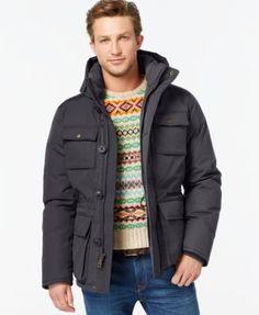 TOMMY HILFIGER Tommy Hilfiger Hooded Utility Field Coat. #tommyhilfiger #cloth # coats
