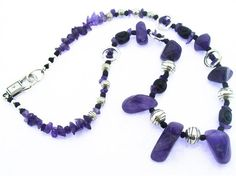 "#kits #beads Create your own ""Pretty in Purple"" necklace with our kit which includes all beads, findings and components, plus detailed instructions with photos and diagrams. Your kit will arrive nicely packaged so it can be given as a gift! This is a beginner level project. Shop here http://www.happymangobeads.com/prettyinpurple-necklacekitkit13.aspx"