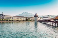 The oldest wooden covered footbridge in Europe, Kapellbrücke is also a rather pretty and impressive sight in the city of Lucerne making it one of the country's most visited sights.