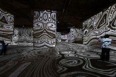L'origine del mondo - installazione immersiva di Miguel Chevalier - Baux-de-Provence. http://virtualmentis.altervista.org/
