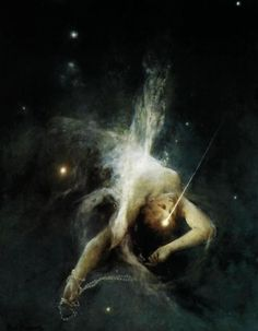 """""""Falling Star"""" (1884) by Witold Pruszkowski (Polish,1846-1896 ), oil on canvas, National Museum, Warsaw."""