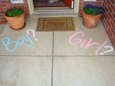 A great way to welcome your gender reveal party ...