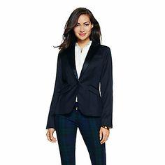 Love this Wool Sateen Lapel Tuxedo Jacket for $149.99 on C. Wonder