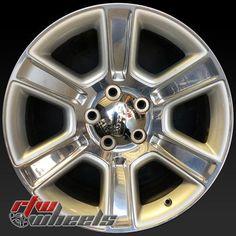 """Dodge Ram 1500 oem wheels for sale 2016. 20"""" Polished rims 2561 - https://www.rtwwheels.com/store/shop/20-dodge-ram-1500-oem-wheels-for-sale-polished-rims-2561/"""