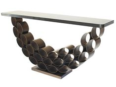 Tubular steel console table   Villiers.co.uk