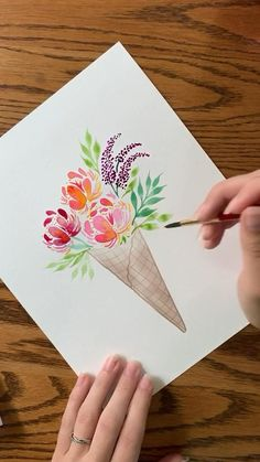 Watercolor Painting Techniques, Watercolor Video, Watercolour Tutorials, Painting & Drawing, Watercolor Paintings, Matte Painting, Watercolors, Watercolor Stickers, Watercolor On Fabric