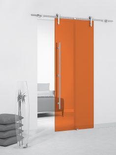 Puerta corredera de cristal Casali System Apricot Transparente de Maydisa. www.maydisa.com