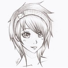 Anime Sketches | anime girl sketch by ~mr-Awesomenessist on deviantART