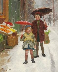 Victor Gabriel Gilbert - It's Snowing