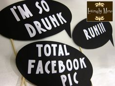 Photobooth Props Ultimate Humor 7 Piece Set by LovinglyMine