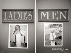 Es ist Sonntag und wir haben mal wieder ne nette Idee für Eure Hochzeit gefunden. Eine für's stille Örtchen. Wobei – es kann sein, dass es dann gar nicht mehr so still ist und die Gäste ein bisschen kichern, wenn sie diese Fotos entdecken. An die Türen der Toiletten wurden nämlich Kinderfotos des Brautpaares gehängt. …
