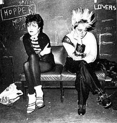 siouxie sioux and a lady named jordan in i'm remembering my punk history correctly.