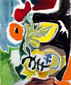 Poppy group. / Groupe de coquelicots. / By Ivon Hitchens, 20th century.
