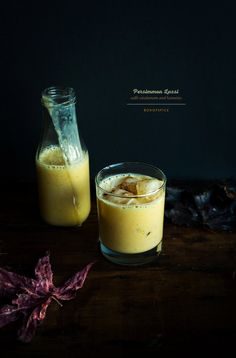 Persimmon Lassi with Turmeric and Cardamom