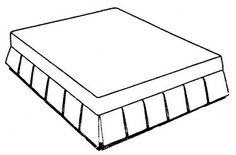 box pleat bedskirt / dust ruffle Dust Ruffle, Ruffles, Custom Bedding, Box Pleats, Bedroom Ideas, Bedrooms, Decorating, Decor, Decoration