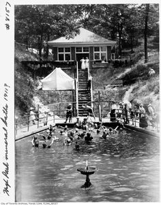 Is it summer yet?  A visual history of swimming in Toronto High Park approx1911.