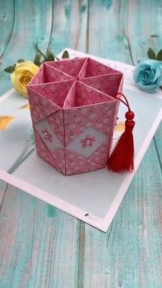 Diy Crafts Hacks, Diy Crafts For Gifts, Diy Home Crafts, Diy Arts And Crafts, Creative Crafts, Paper Flowers Craft, Paper Crafts Origami, Paper Crafts For Kids, Diy Paper