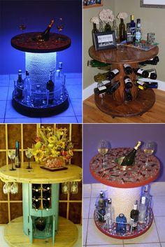 DIY: decoração com carretel de madeira - Casinha Arrumada