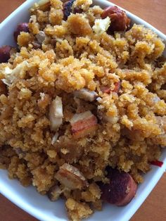 Migas (con thermomix) Food N, Good Food, Food And Drink, Yummy Food, Spanish Dishes, Asian Cooking, International Recipes, Sweet Recipes, Breakfast Recipes