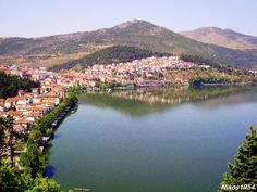 Panoramic View of city Kastoria-Greece.