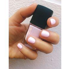 Lovely wedding nails, soft pastel pink