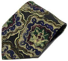 Geoffrey Beene 100% Silk Hand Made Italy Necktie Multi-Color Geometric Tie | Clothing, Shoes & Accessories, Men's Accessories, Ties | eBay!