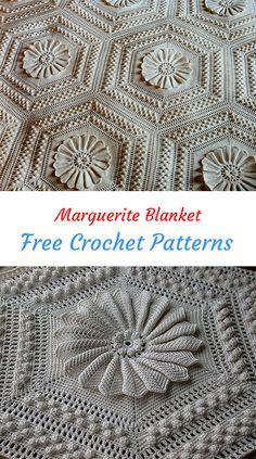 Marguerite Blanket Free Crochet Pattern #crochet #crafts #homedecor #handmade #style