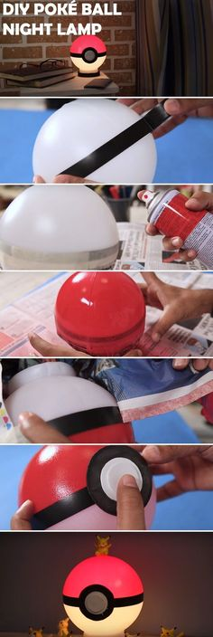 How to Make a DIY Poké Ball Night Lamp. A Must for Any Pokémon Fan!