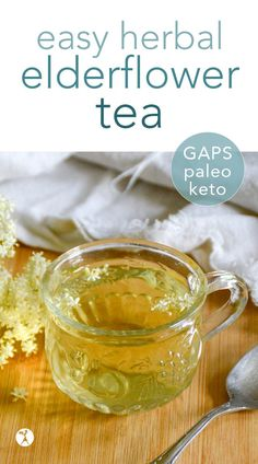 Honey Elderflower Tea :: paleo, GAPS, low carb option Allergy Free Recipes, Primal Recipes, Beef Recipes, Real Food Recipes, Cooking Recipes, Healthy Recipes, Cooking Tips, Easy Recipes, Easy Cooking