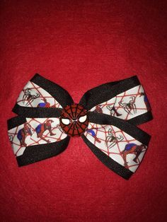 Spiderman Hair Bow by HelgasHairBowDesigns on Etsy