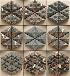 Hexagonal concrete tiling system