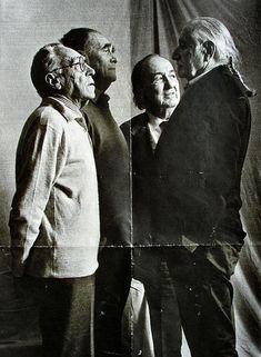 The italian four: Achille Castiglioni, Vico Magistretti, Marco Zanuso, Ettore Sottsass.