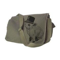 Handmade Gifts | Independent Design | Vintage Goods Sir Fancy Rabbit Messenger Bag - Army Green - Accessories - Girls