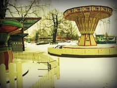 Abandoned amusement park, Skansen Zoo, Sweden