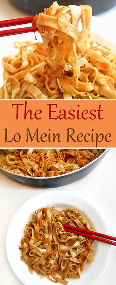 Easy Lo Mein - This is the easiest lo mein recipe you will ever make. It's much…